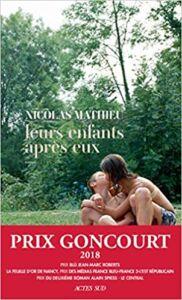 Livro Leurs enfants après eux do autor francês Nicolas Mathieu (2018)